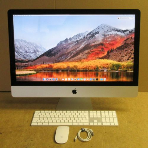 "Apple iMac 14,2 27"" Core i5-4570 3.2GHz 8GB Ram 525GB SSD High Sierra OS"